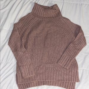 Charlotte Russe Cowl Neck Knitted Sweater